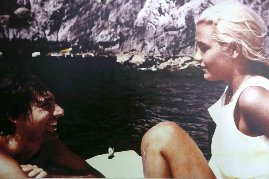 In barca a Punta Campanella (1984), foto di Enrico Cugnin