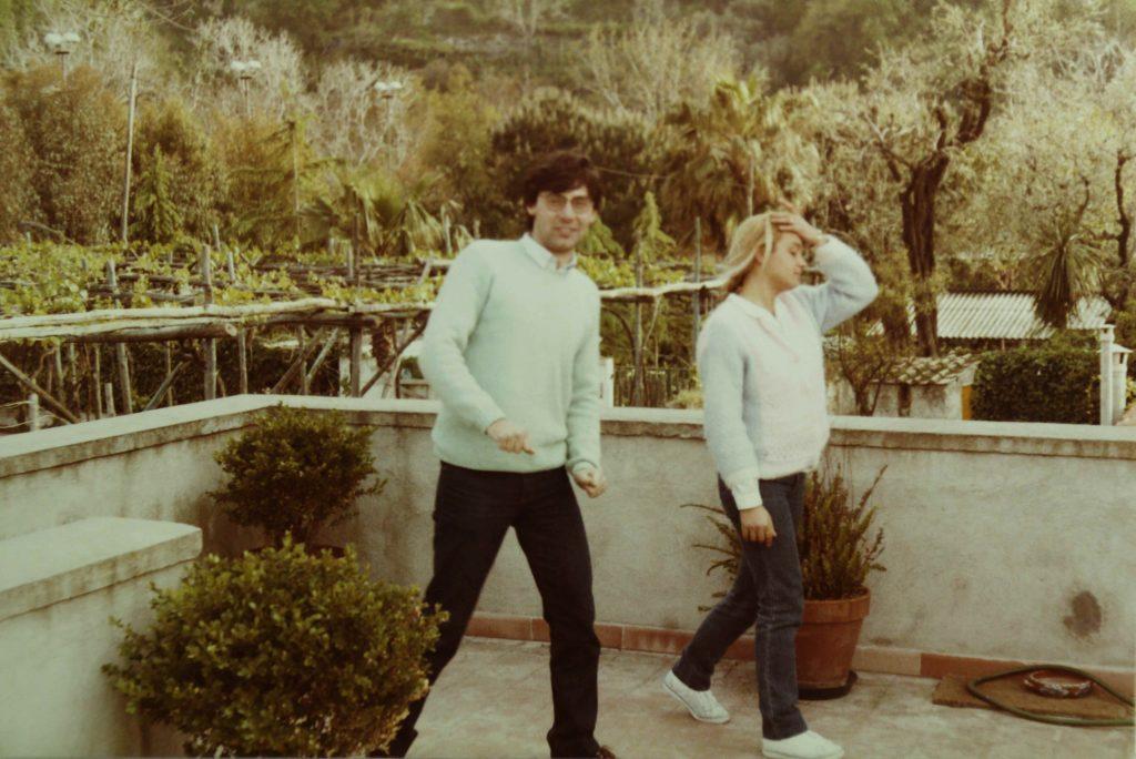 Vico Equense, sul terrazzo di casa di Roberto Chiari (primavera