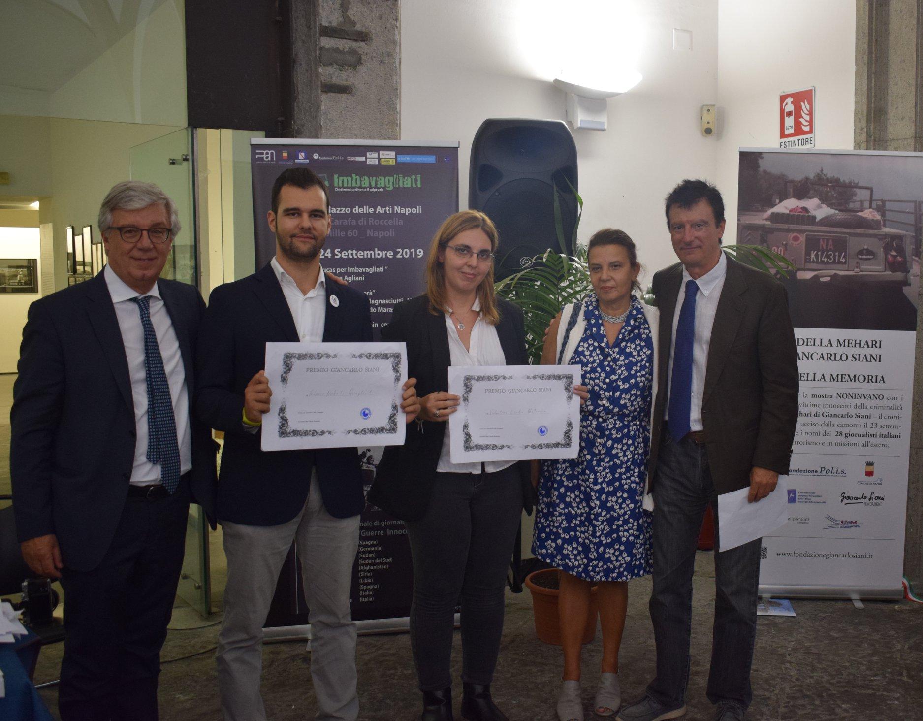 Premio Siani 2019, XVI edizione