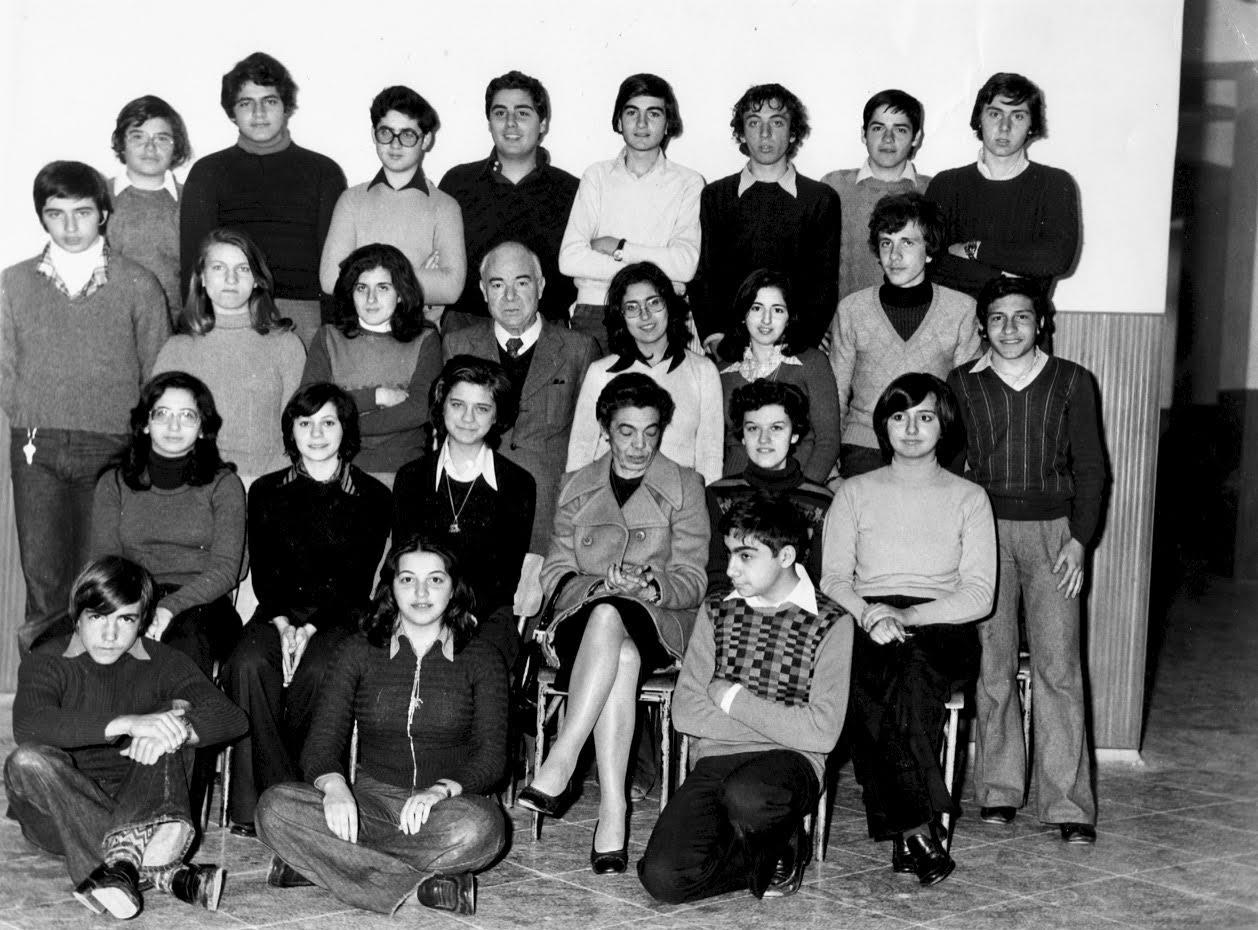 Foto di classe 5^ ginnasio 1974 -1975