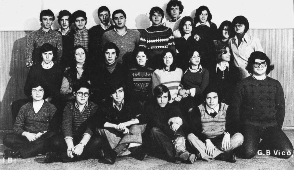Foto di classe 1^ liceo 1975 - 1976