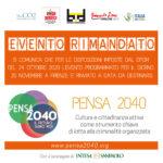 Convegno Pensa2040 | Rimandato