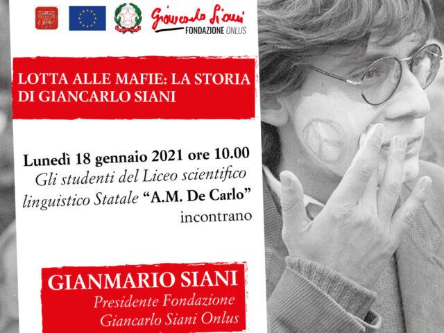 """La Fondazione Giancarlo Siani Onlus incontra gli studenti del liceo scientifico linguistico statale """"A. M. De Carlo"""""""