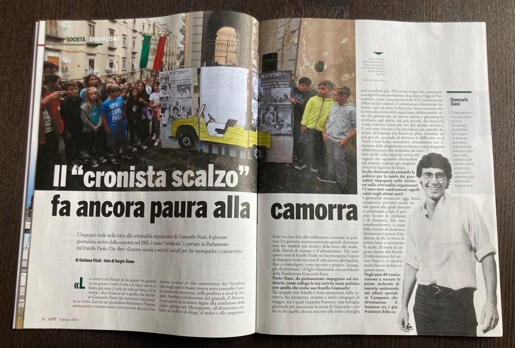 4 giugno 2021 | Intervista a Paolo e Gianmario Siani su Left