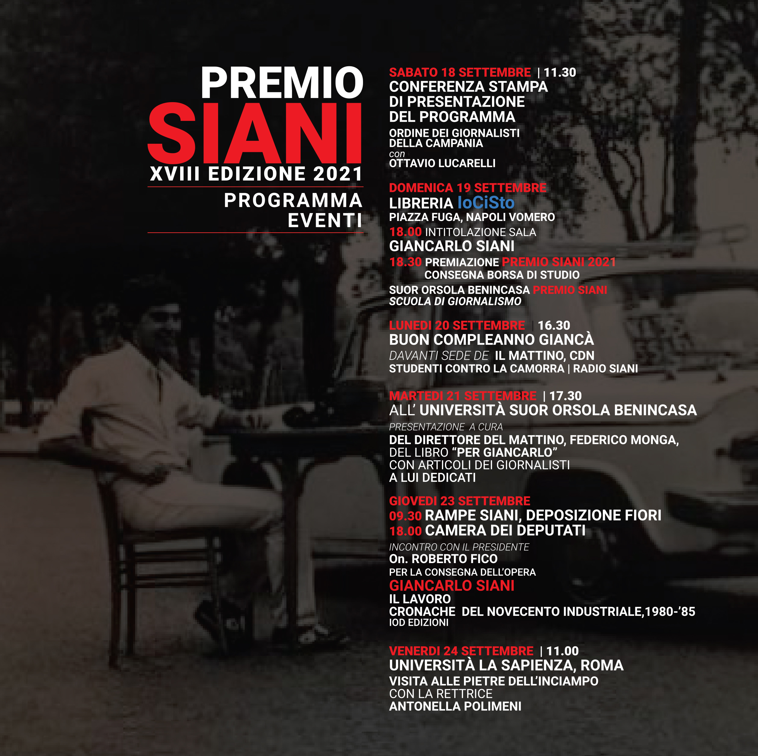 Programma Premio Siani 2021